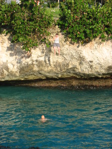 Keely cliff-jumping