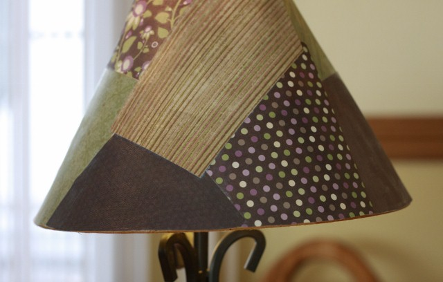 Lampshade patch work mozeypictures