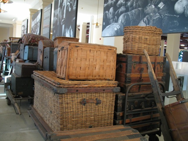 Luggage on Ellis Island