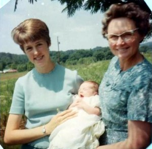 Mom, me and my granny (~1967)