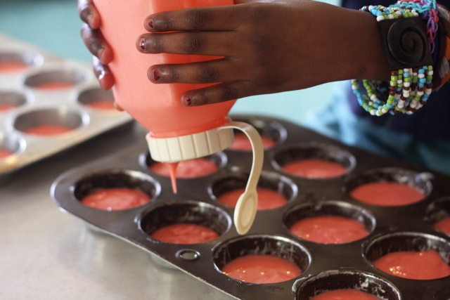 Cupcake-making for little hands