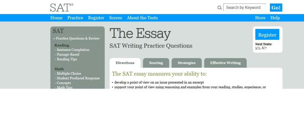 How much point is the sat essay