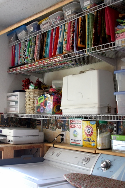 Organizing craft supplies