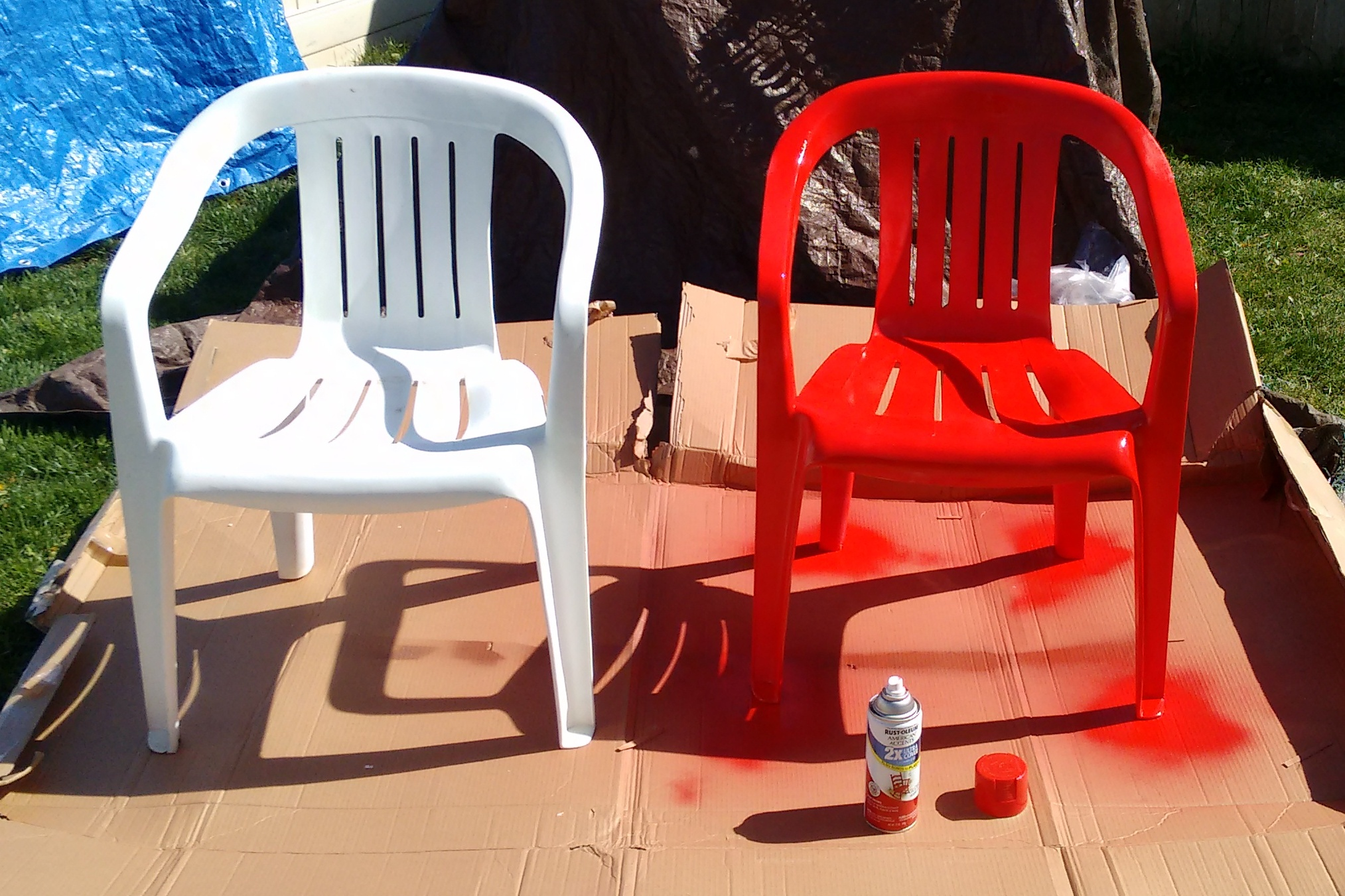 Spray Painting Plastic Chairs Does It Work