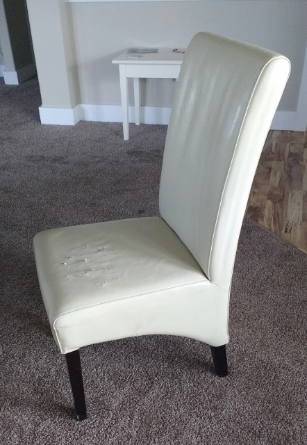 My Friend Had An Old Chair That She Was Getting Rid Of That Fit The Bill  Perfectly Size Wise. It Was Comfy And Had A Nice Shape. But It Needed  Recovering.
